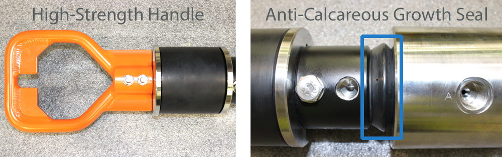 strength flexible handle mechanism and unique Anti-Calcareous Growth Seal