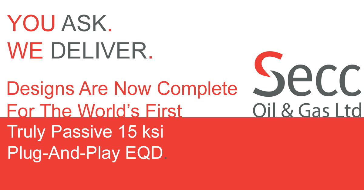 Secc have designed the world's first truly passive, plug-and-play 15 ksi Emergency Quick Disconnect (EQD)